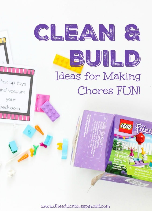 clean and build, ideas for making chores fun