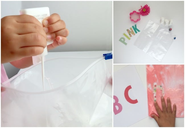 ABC Writing Sensory Bag Inspired by Pinkalicious