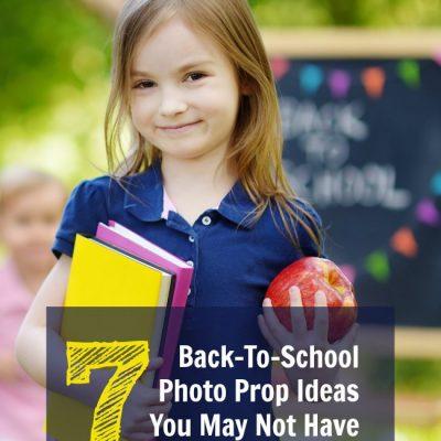 Back To School Photo Prop Ideas