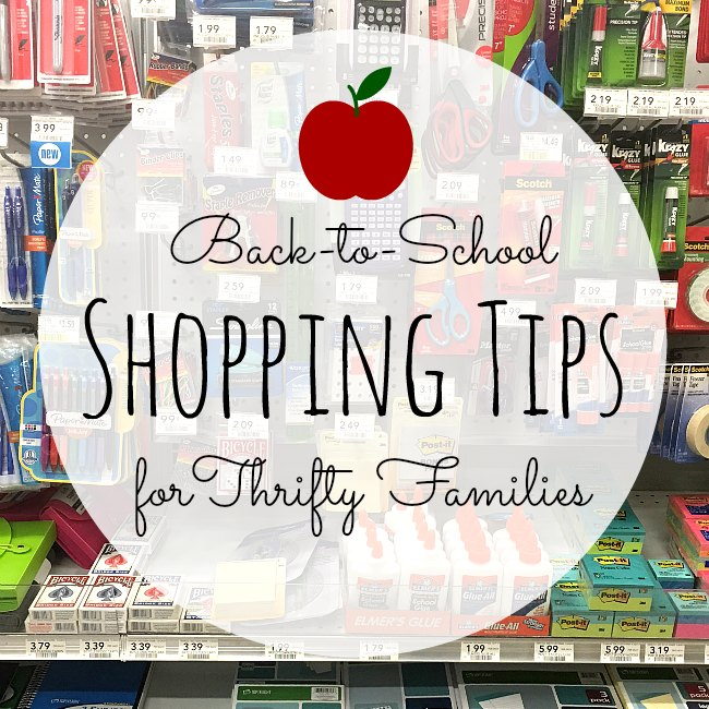 Back to School Shopping Tips for Thrifty Families