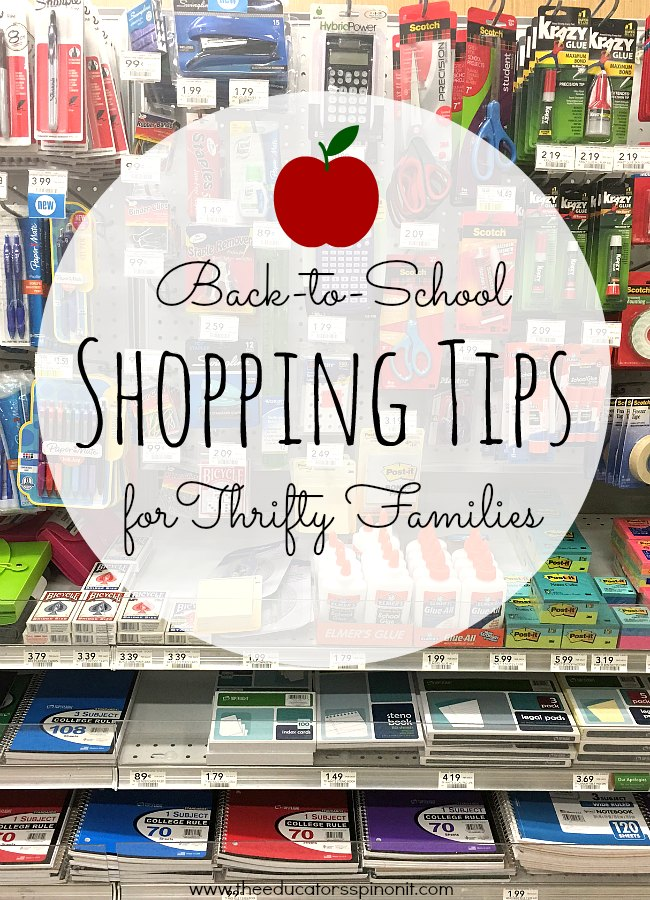 Back to School Shopping Tips for Thrifting Families