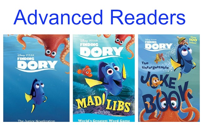 FInding Dory Books for Advanced Readers