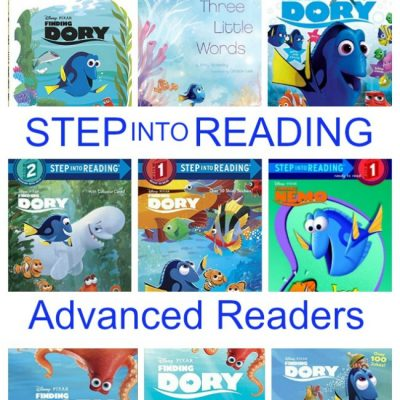 Fill your Bookshelves with Finding Dory Books for Kids