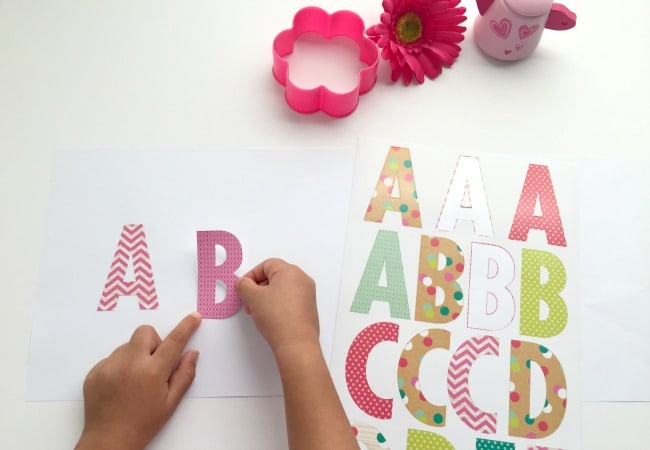 How to Make Pinkalicious Alphabet Game with Stickers