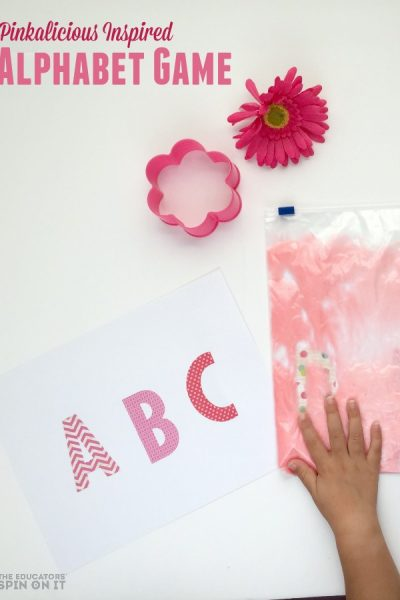 Pinkalicious Sensory Alphabet Activity