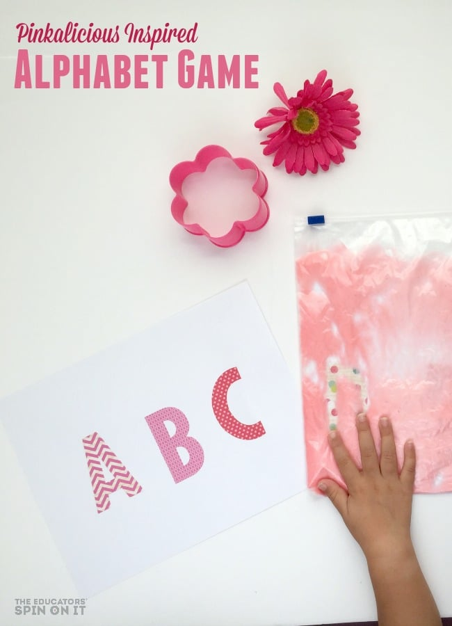 Pinkalicious Inspired Alphabet Game for Kids