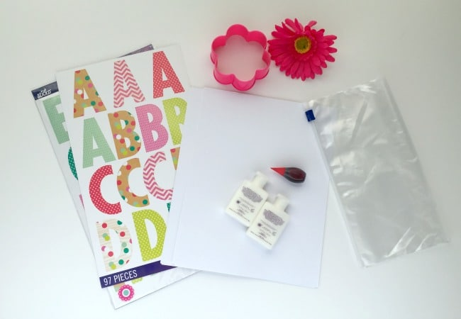 Supplies needed for Pinkalicious Alphabet Game for Kids