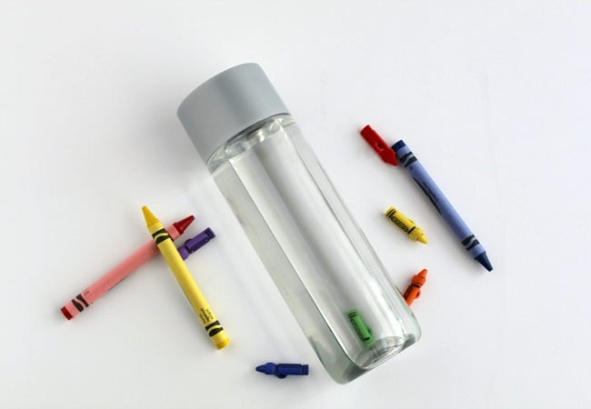 Crayon Themed Sensory bottle for Kids