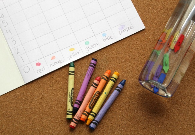 Graphing with Crayons Themed Sensory Bottle