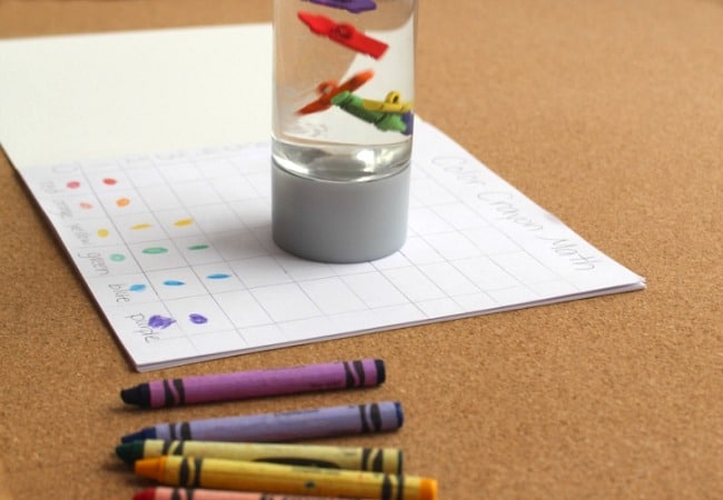 Graphing with Crayons for Kids