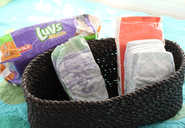 Making a Diaper Basket for Parenting