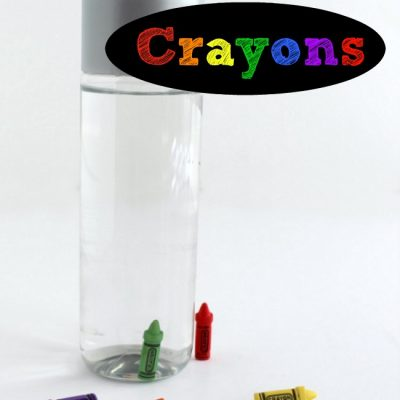 Sensory Bottle Math Game with Crayons
