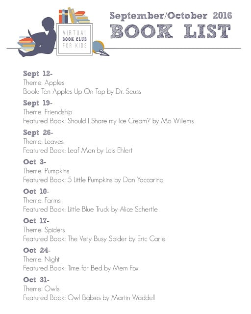 Virtual Book Club for Kids Fall Book List 2016