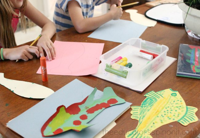 Directi Open Ended Fish Art and Science Project for creative kids to make and do.