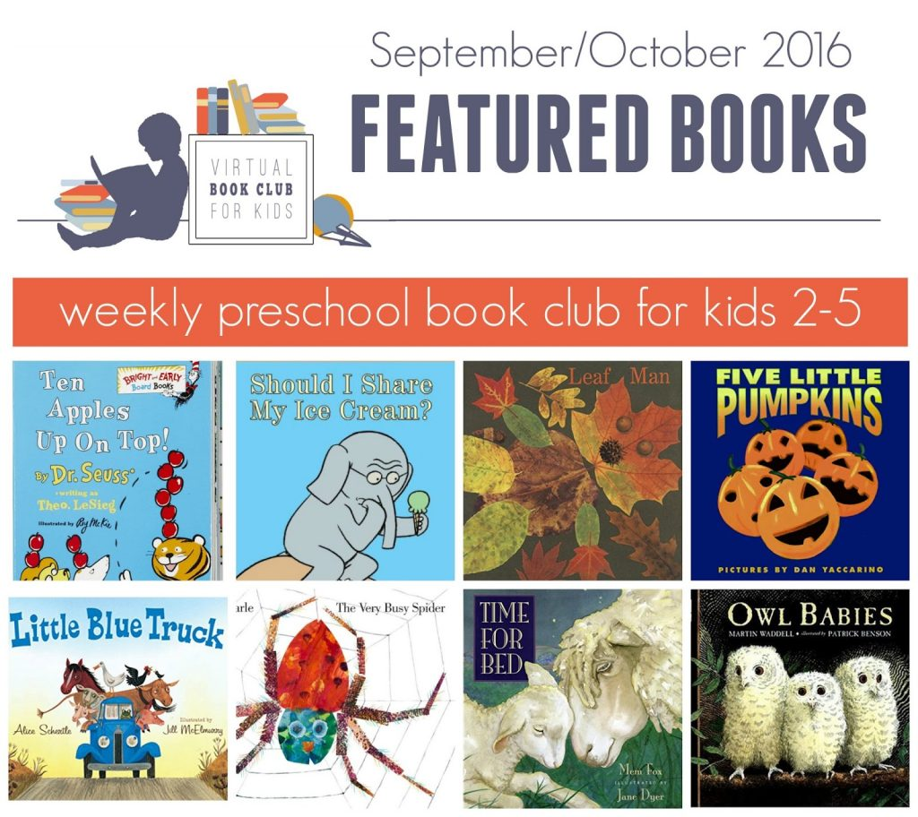 weekly featured books virtual book club for Kids