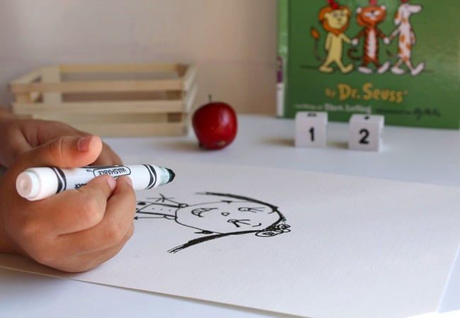 Drawing Self Portrait for Ten Apples Up On Top Math Game