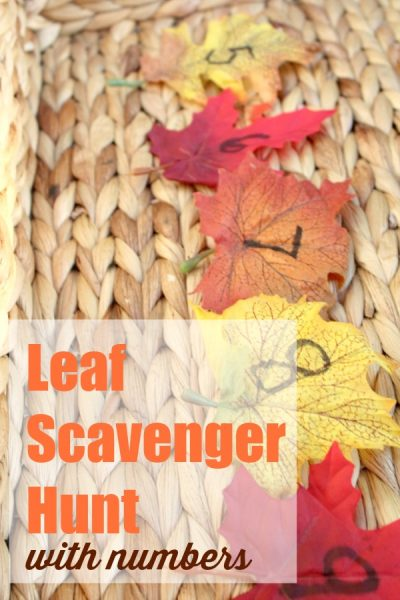 How to Play a Number Themed Leaf Scavenger Hunt With Your Child