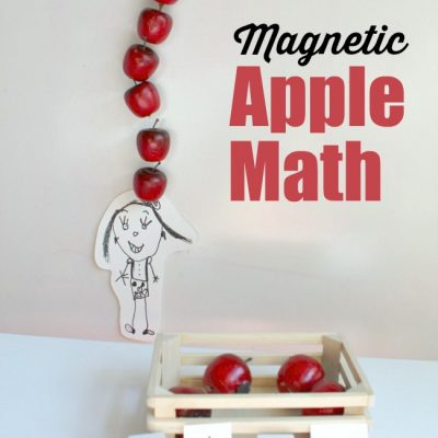 Magnetic Apple Math Game for Ten Apples Up On Top