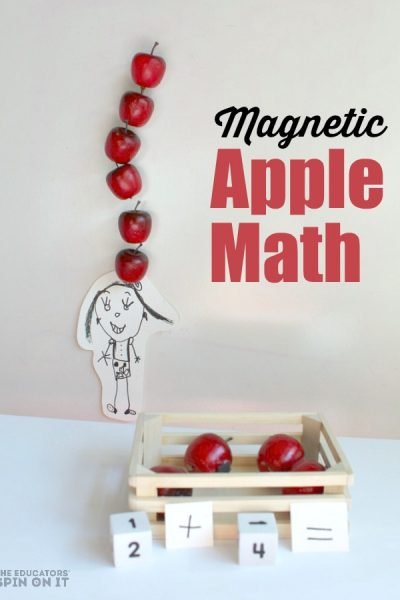 Magnetic Apple math Game for the book Ten Apples Up On Top