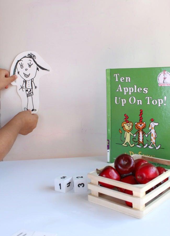 Handing Self Portrait for Ten apples Up On Top Math Game
