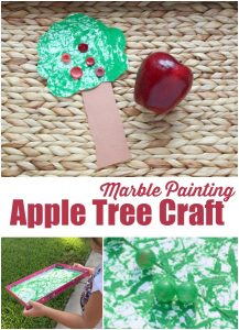 Marble Painting Apple Tree Craft