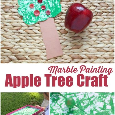 Apple Tree Craft Kids Can Make By Marble Painting