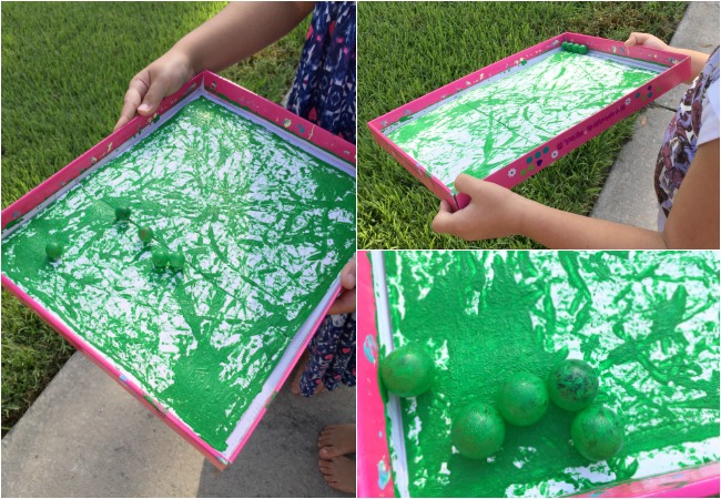 Marble Painting for the Apple Tree Craft