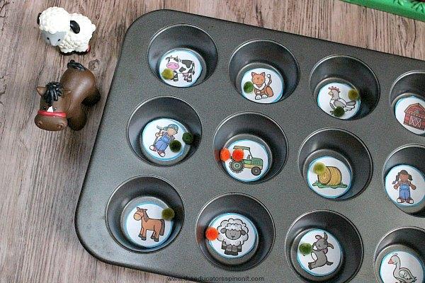 Muffin Tin Farm Game