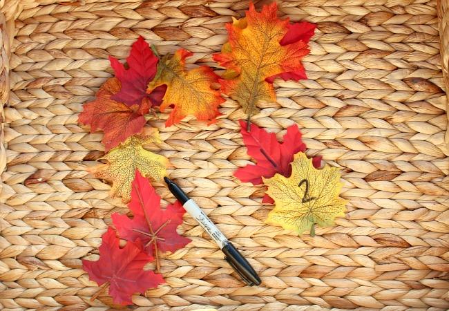 Making a number leaf scavenger hunt game for kids