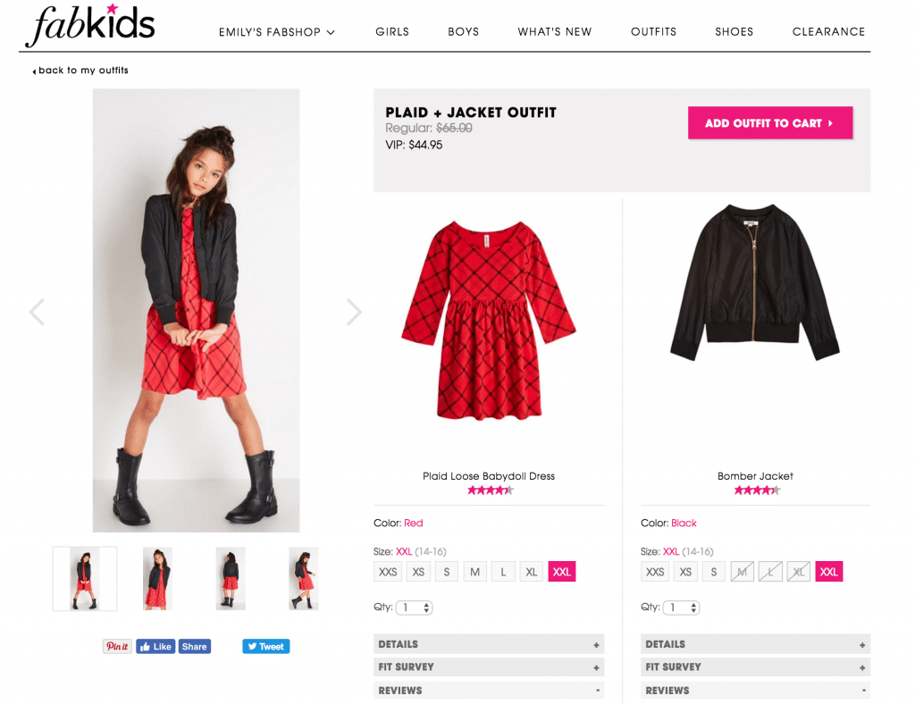 Ordering Kids Clothes online from FabKids.com