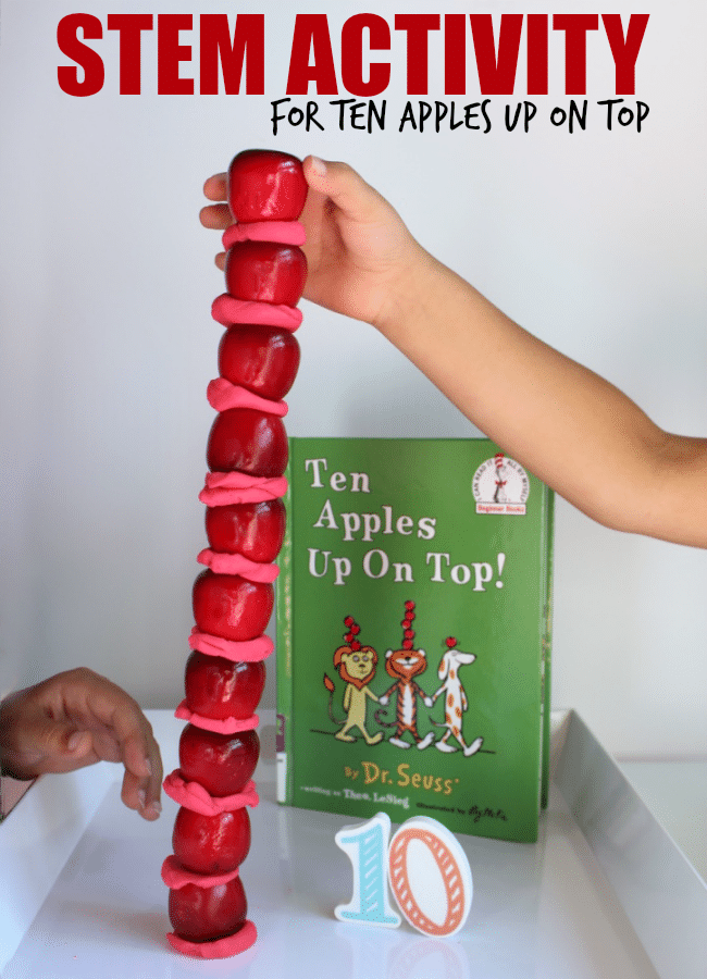 STEM Activity for Ten apples Up On Top for Kids