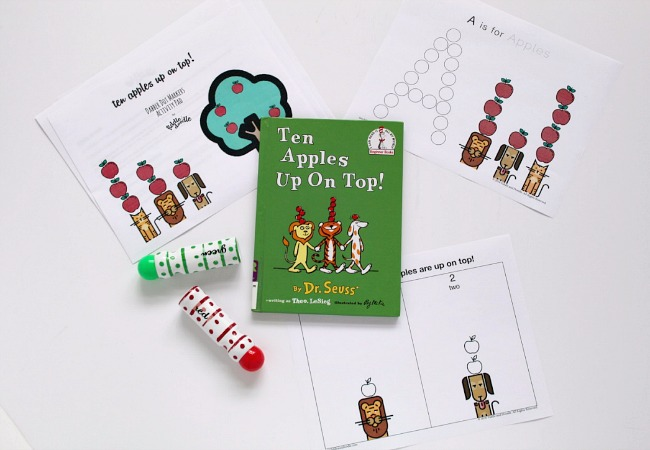 Printable for Ten Apples Up On Top