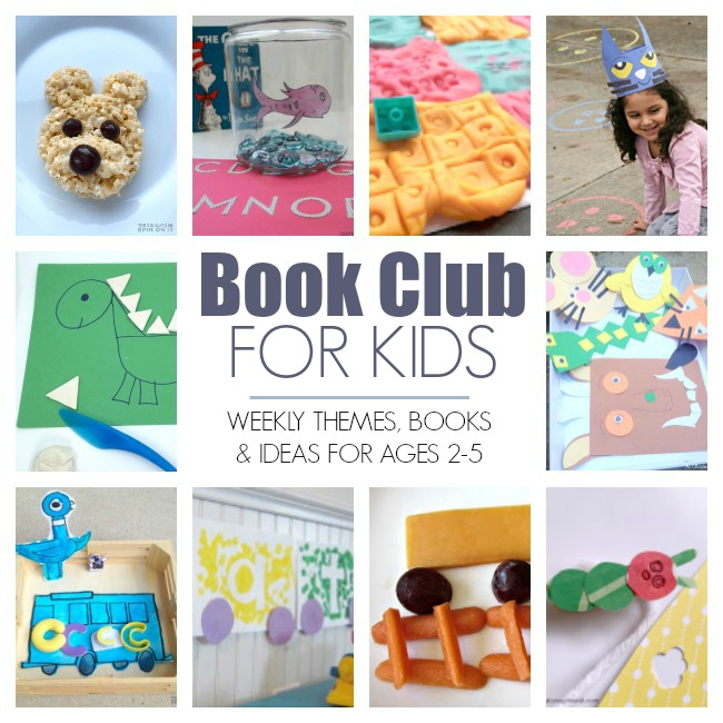 Weekly Virtual Book club for Kids Feature Ideas with Books