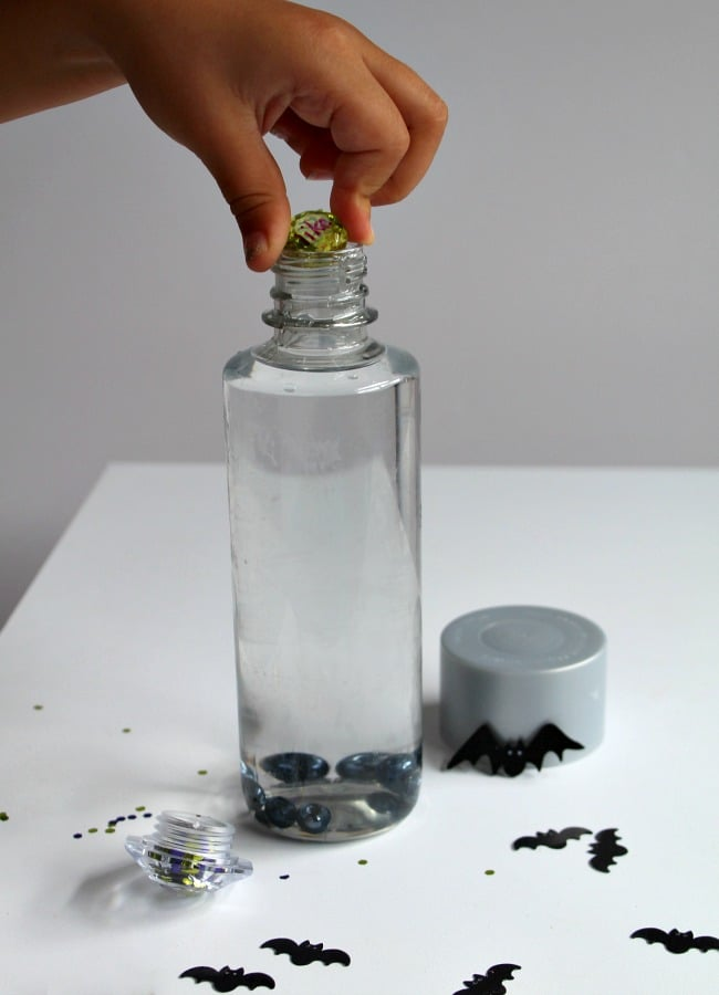 Bat Themed Sight Word Sensory Bottle