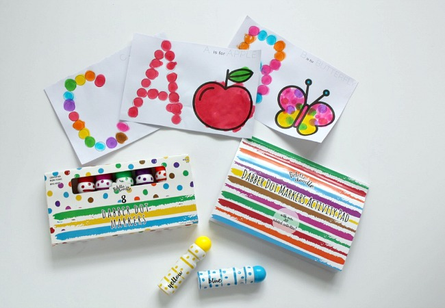 Dabber Dot Markers and Activity Pad from Fiddle and Doodle