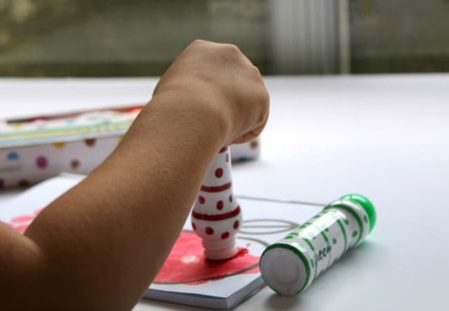 Dot Marker Stamping for Learning and Fine Motor Skills