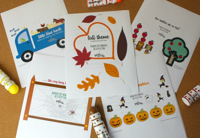 Fall Printables from Fiddle and Doodle Dot Markers