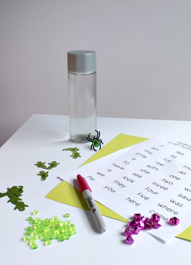 Ghost Sight Word Activity for Beginning Readers