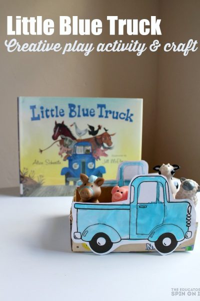 How to Make a Little Blue Truck Craft for Kids Story Play