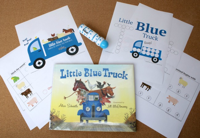 Little Blue Truck Printables from Fiddle and Doodle Dot Markers