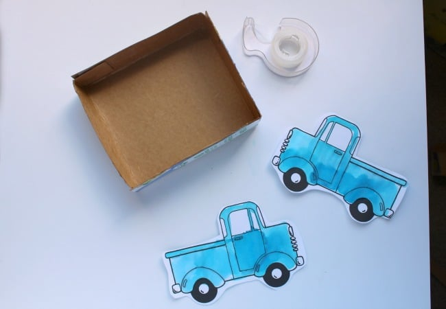 Making a Little Blue Truck with Kids and Watercolor