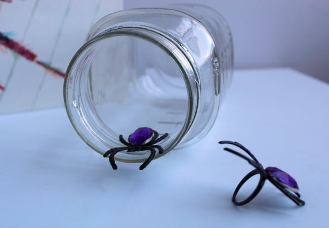 Making a Spider Web Sensory Bottle for Kids