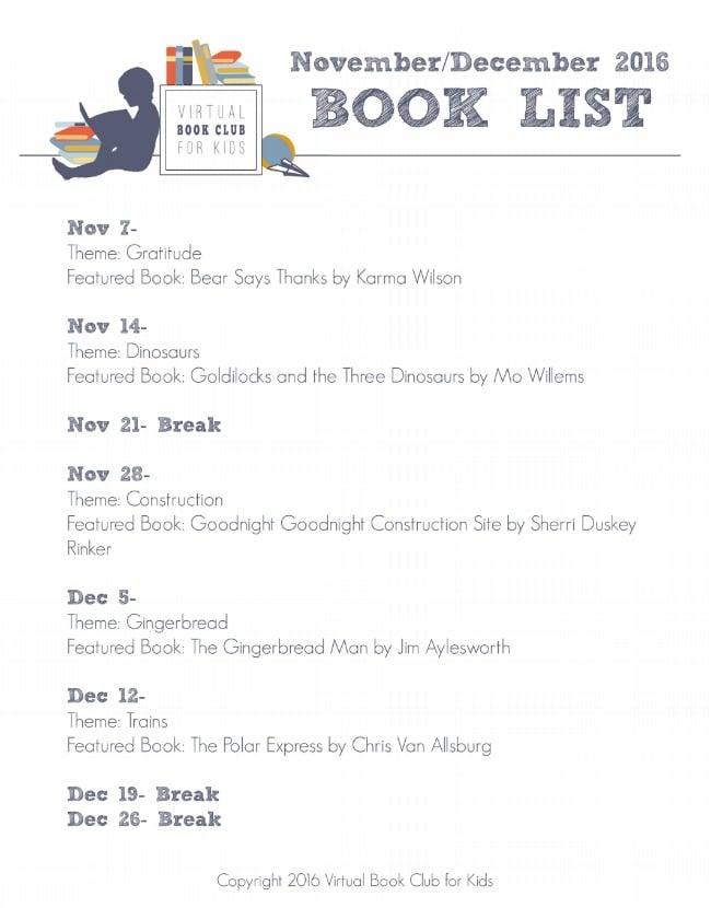 VBC November Book List 2016