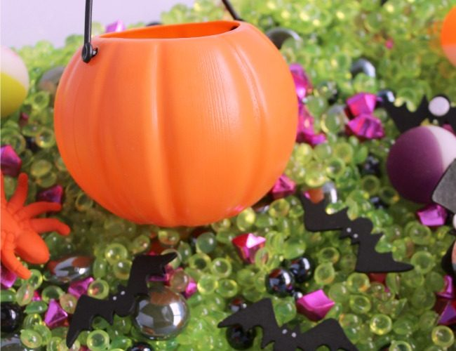 Pumpkin Sensory Bin for Halloween Fun with Kids