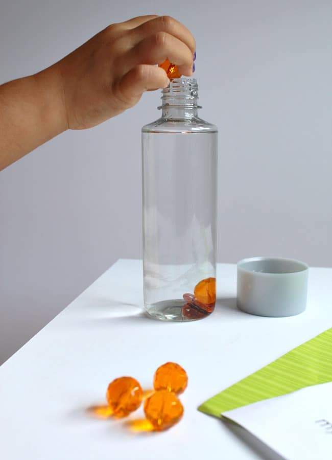 Pumpkin Themed Sensory Sight Word Bottle