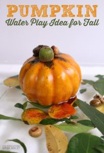 Pumpkin Water Play Idea for Fall