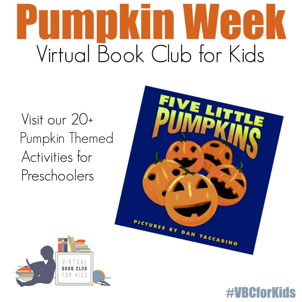 Pumpkin Week at the Virtual Book Club for Kids