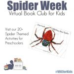 Spider Week for Virtual Book Club for Kids