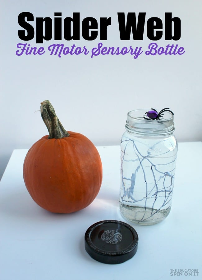 Spider Web Fine Motor Sensory Bottle