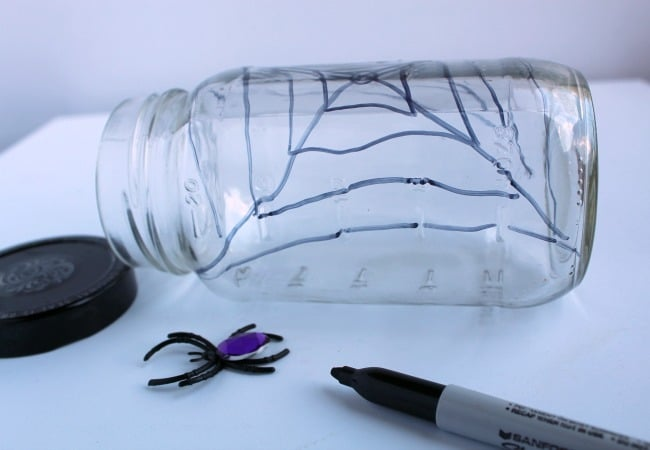Spider Web Sensory Jar for The Very Busy Spider